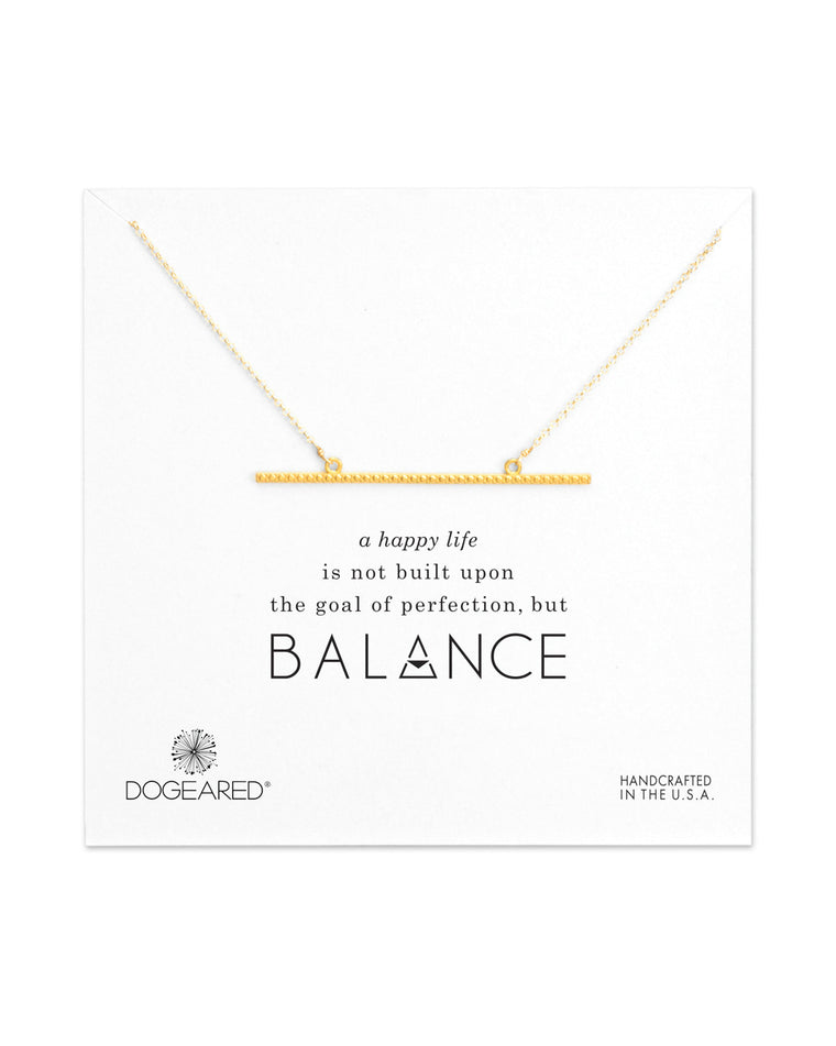Balance Large Textured Bar Necklace