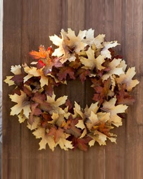 Crafted Autumn Leaves Wreath