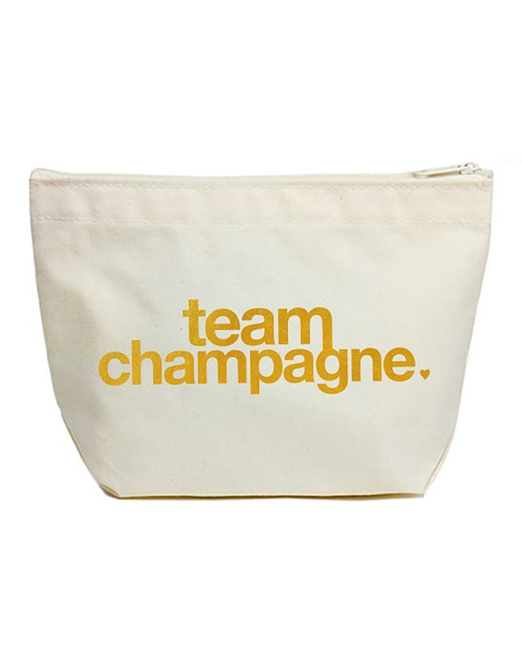 Dogeared 'Lil' Zip' Team Champagne Pouch