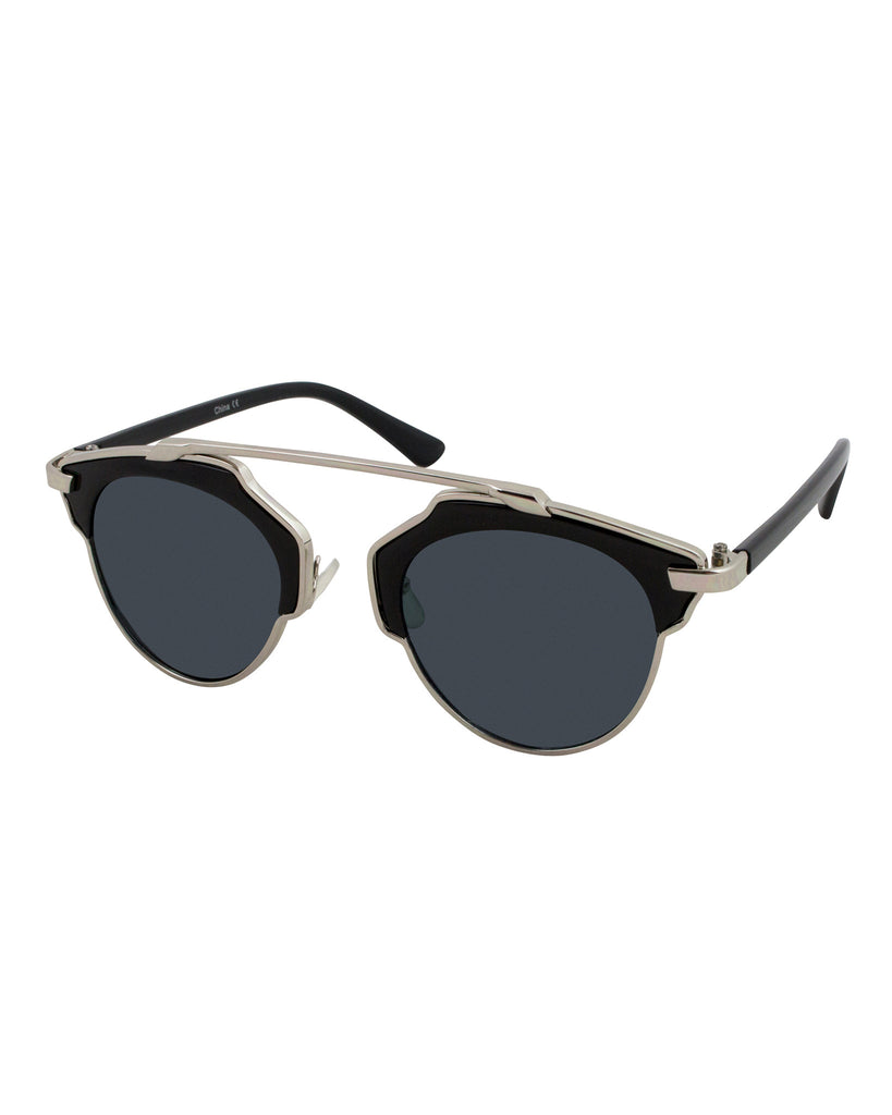 Sharp Focus Half Frame Sunglasses