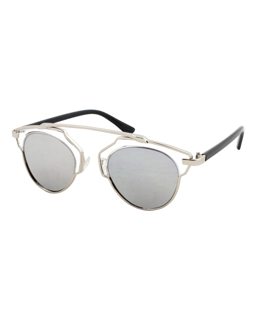 Clear View Mirrored Sunglasses