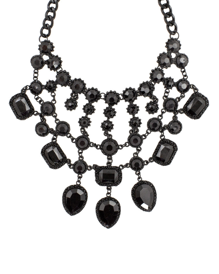 Gia Onyx Jewel Bib Necklace