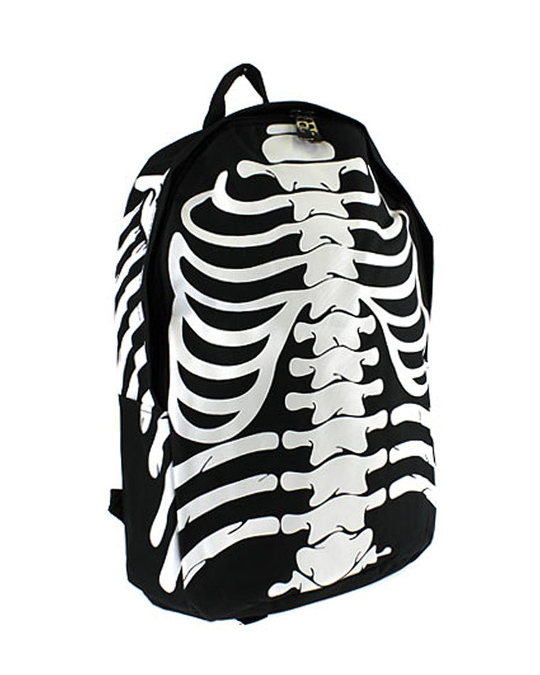 Skeleton Print Backpack