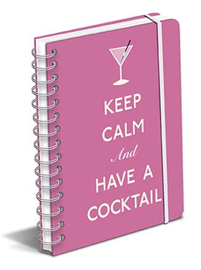 Keep Calm and Have a Cocktail Spiral Notebook