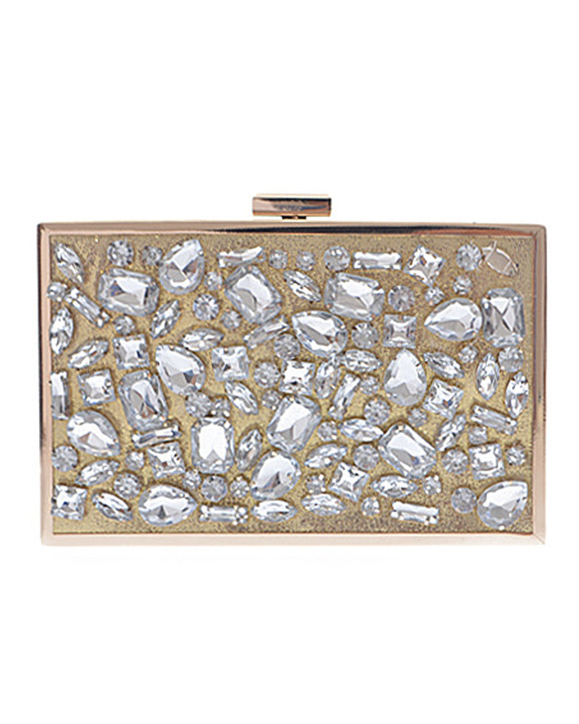 Gem Encrusted Box Clutch