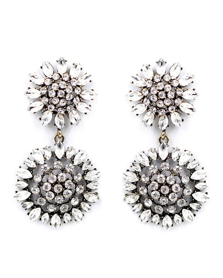 Cassidy Crystal Drop Earrings