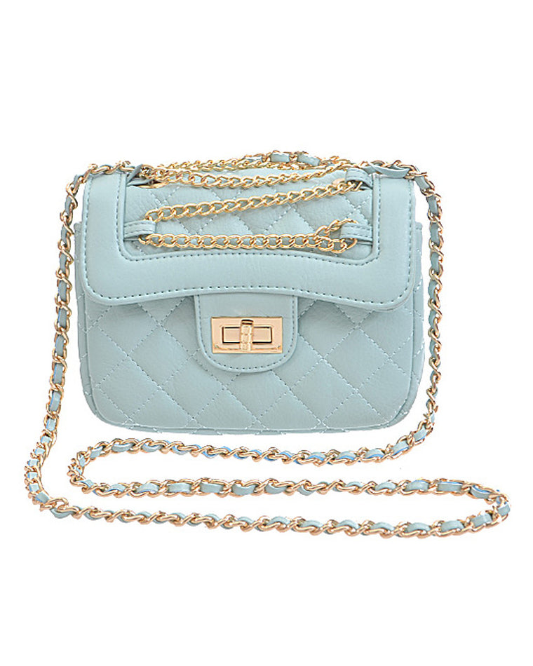 Dainty Quilted Chain Bag - Mint