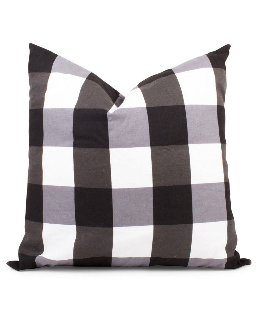 Black and White Gingham Accent Pillow