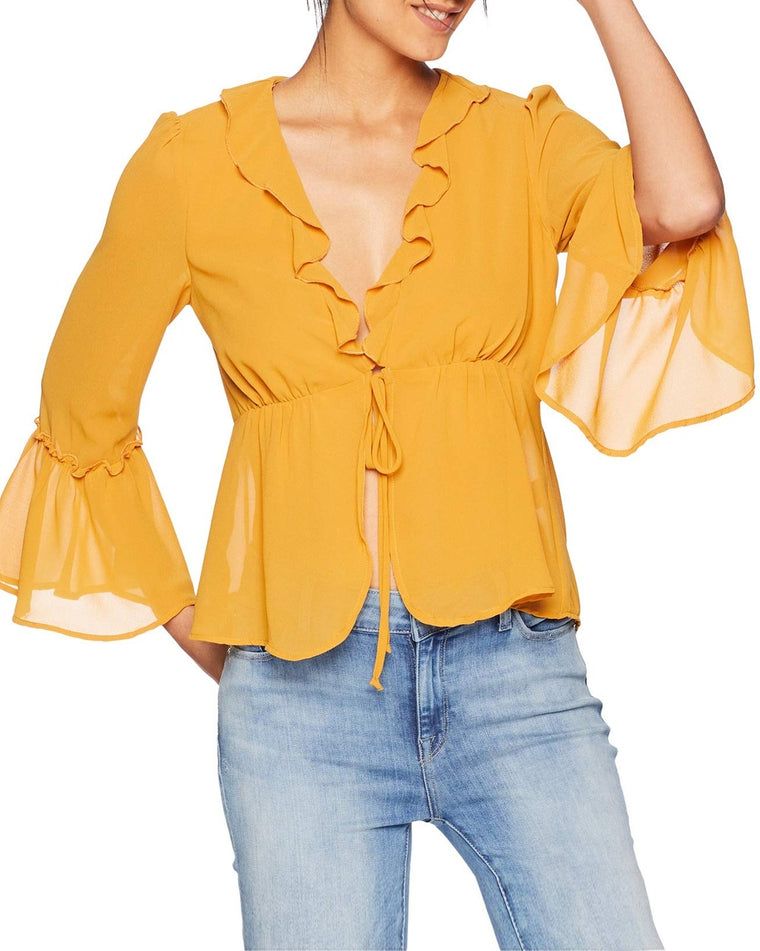 Haley V-Neck Ruffle Top