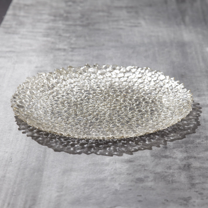 Silver Pebble Dinner Plate