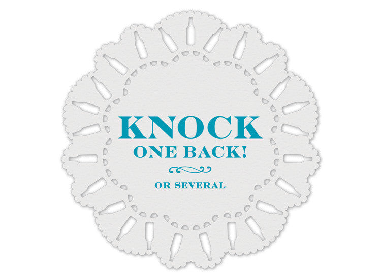 Knock One Back Indelicate Doily Coasters
