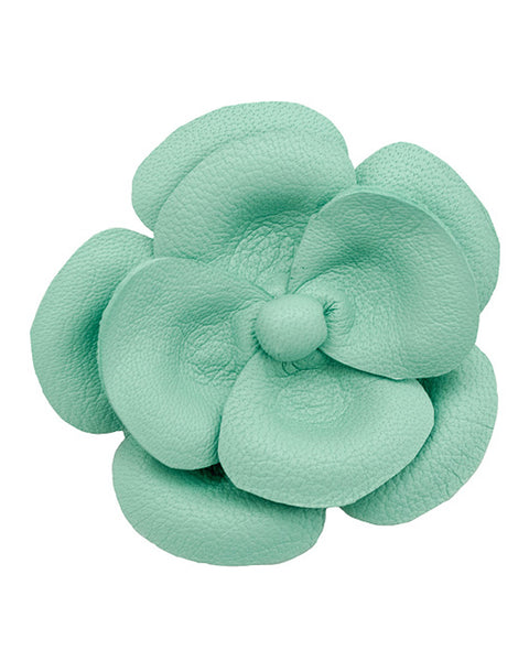 Leather Camellia Barrette