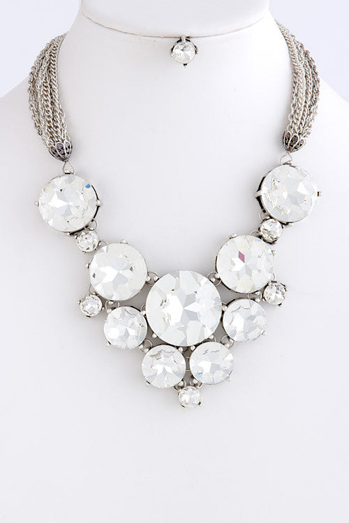 Coleen Crystal Statement Necklace