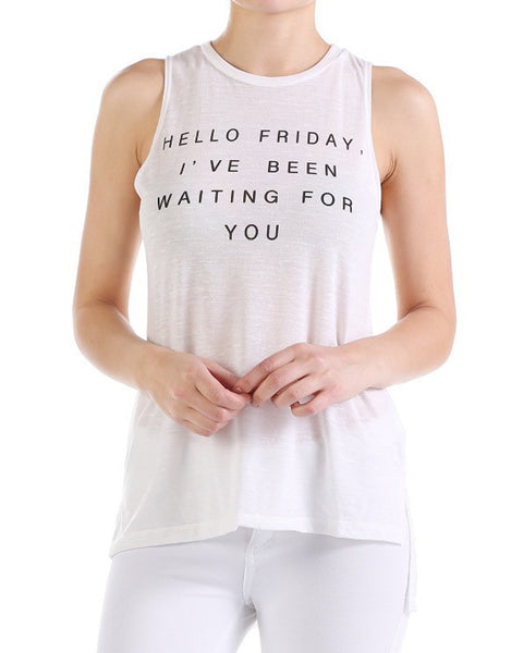 Hello Friday Tank Top