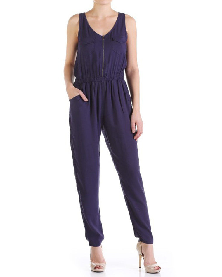 Utility Smocked Jumpsuit