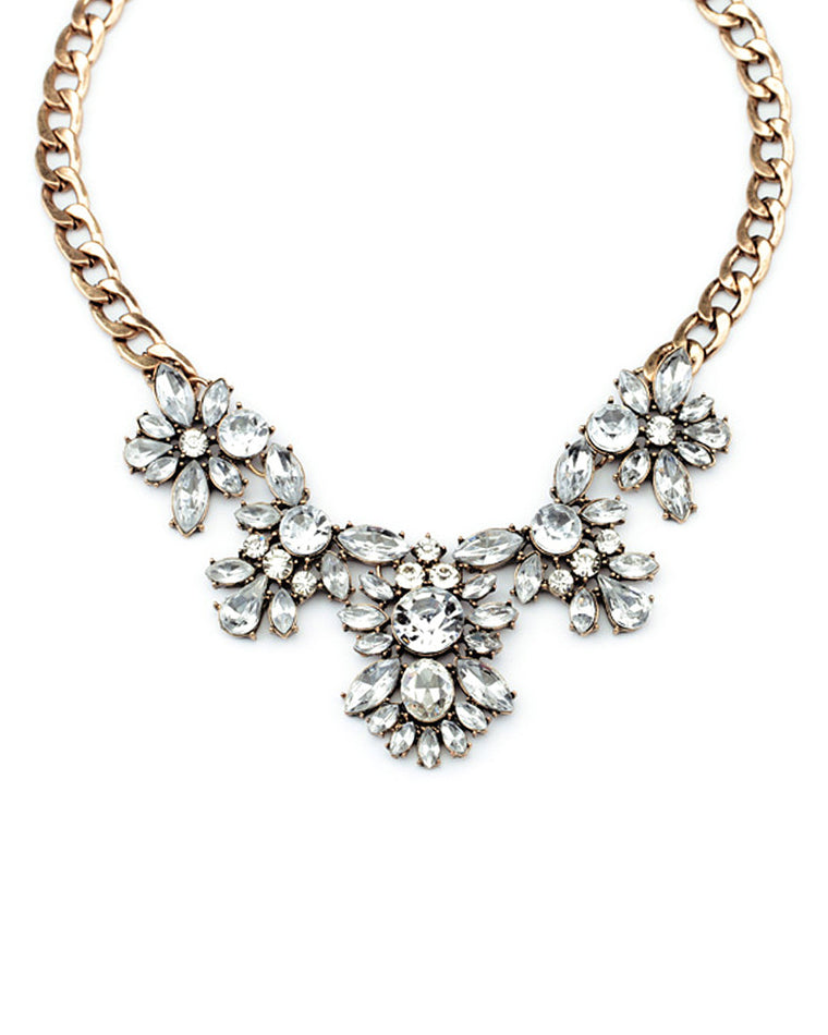 Elsa Crystal Collar Necklace