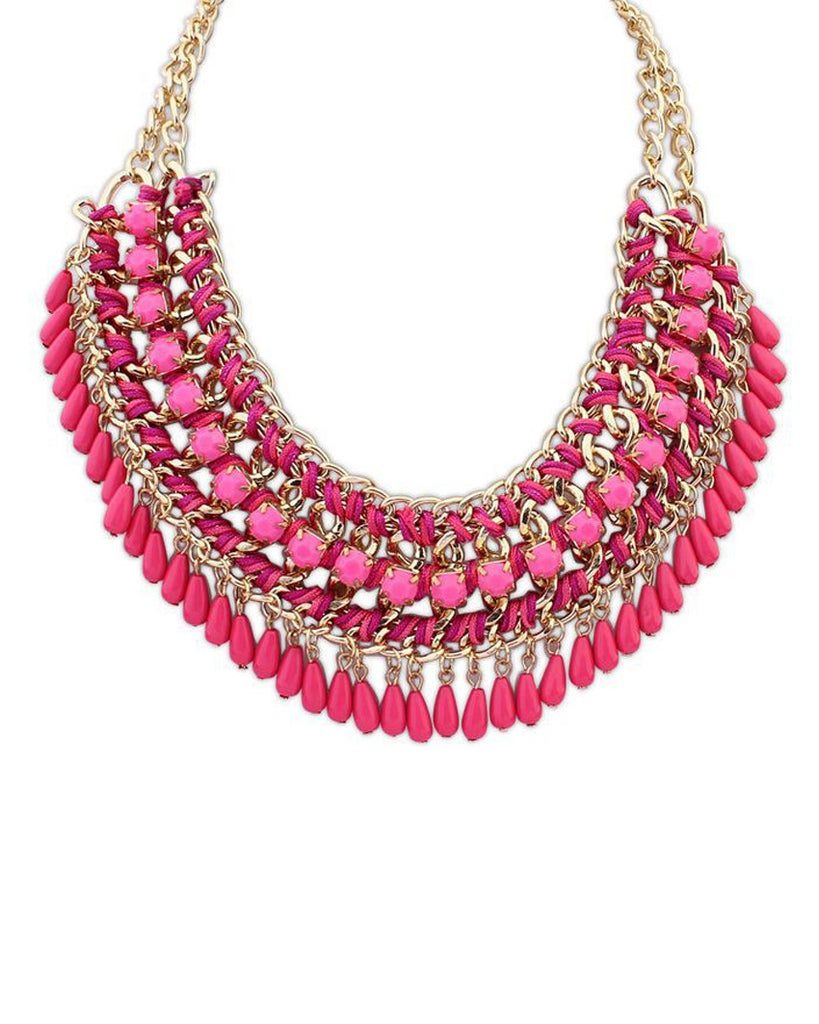 Polina Vibrant Bib Necklace