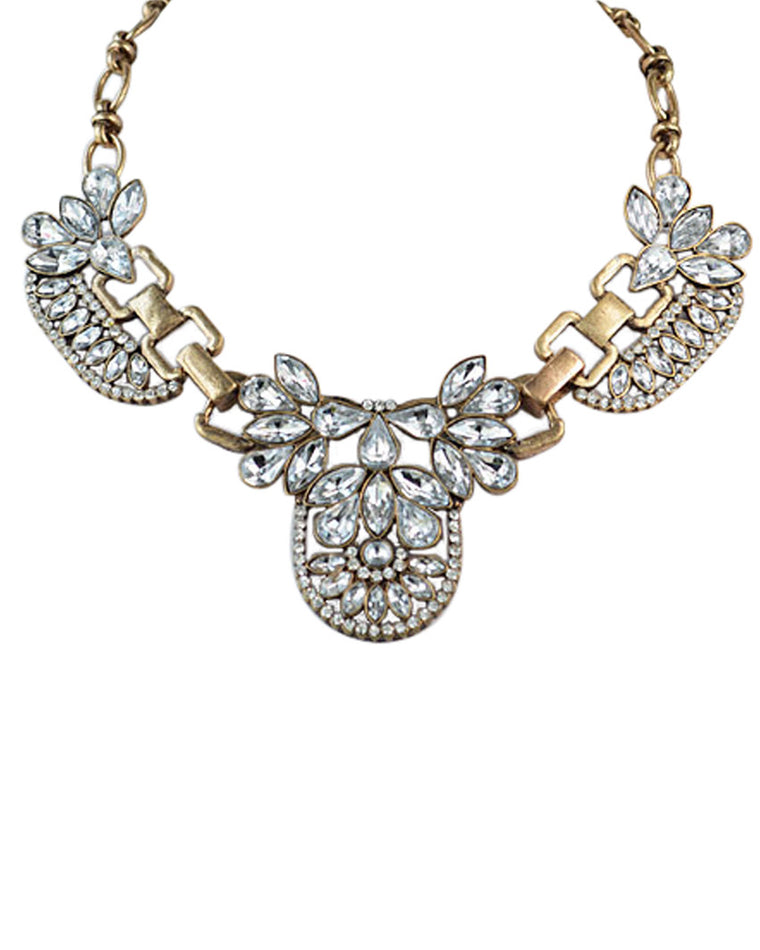 Birdie Rhinestone Collar Necklace