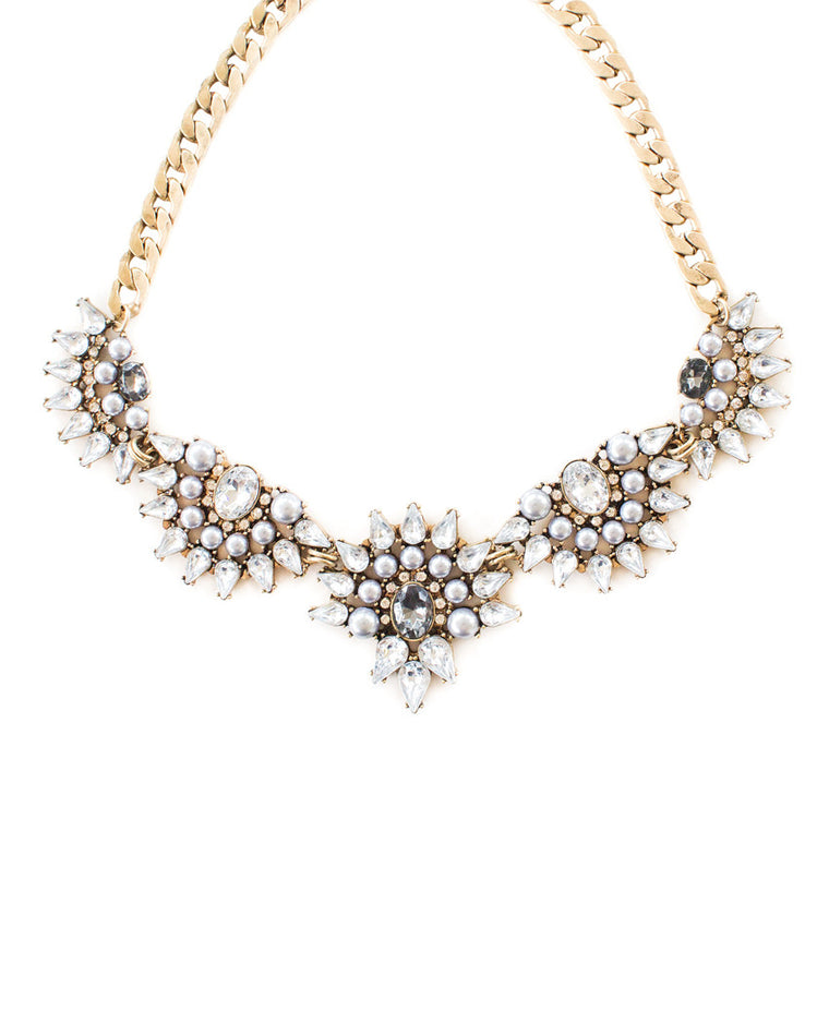 Elisa Crystal Collar Necklace