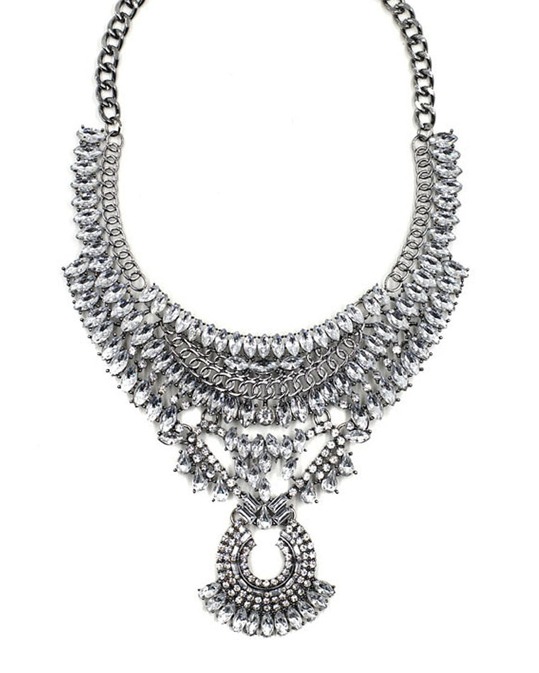 Wanda Crystal Bib Necklace