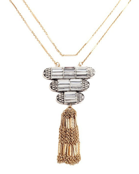 Nahia Tassel Pendant Necklace