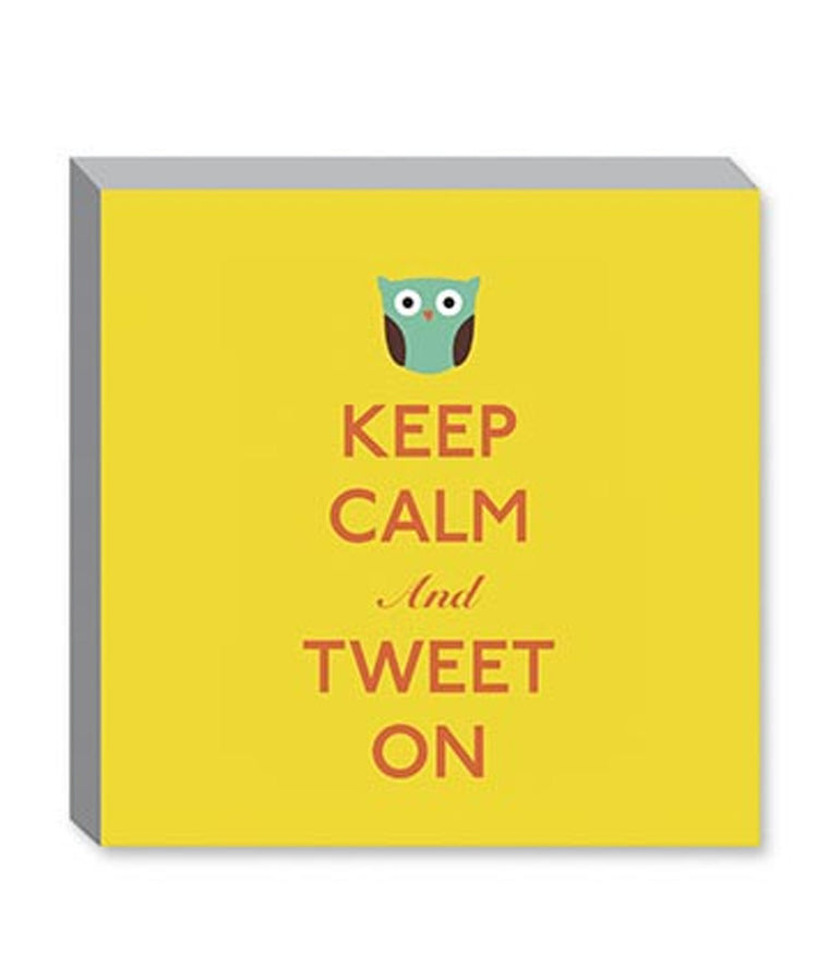 Keep Calm and Tweet On Canvas Print