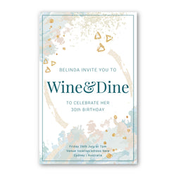 Birthday Invitation - Wine & Dine Template - ux_design  network