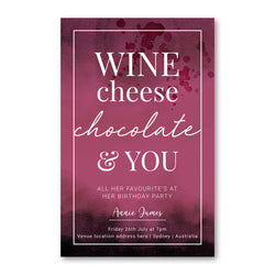 Birthday Invitation - Wine and Cheese Bar Template - ux_design  network
