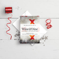 Birthday Invitation - Wine & Dine Two Template - Events and Fiesta Design