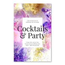 Birthday Invitation - Cocktails & Party Template - ux_design  network