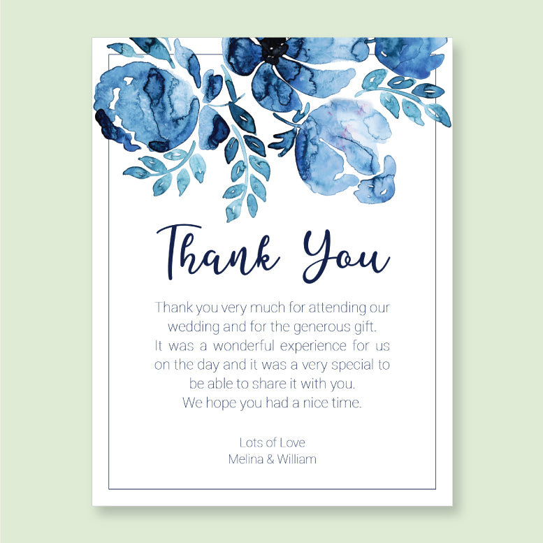 Wedding Blue Sky Theme Template - Thank You Card - ux_design  network