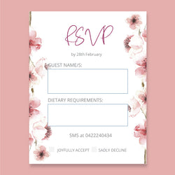 Wedding Cherry Theme Template - RSVP Cards - ux_design  network