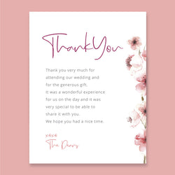 Wedding Cherry Theme Template - Thank You Card - ux_design  network