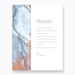 Wedding Colourful Marble Theme Template - Thank You Card - ux_design  network