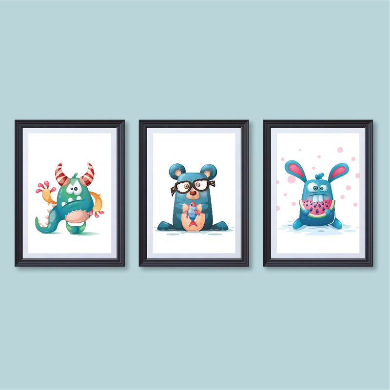 Cute Monsters - poster print - ux_design  network