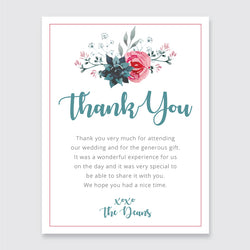 Wedding English Garden Theme Template - Thank You Card - ux_design  network