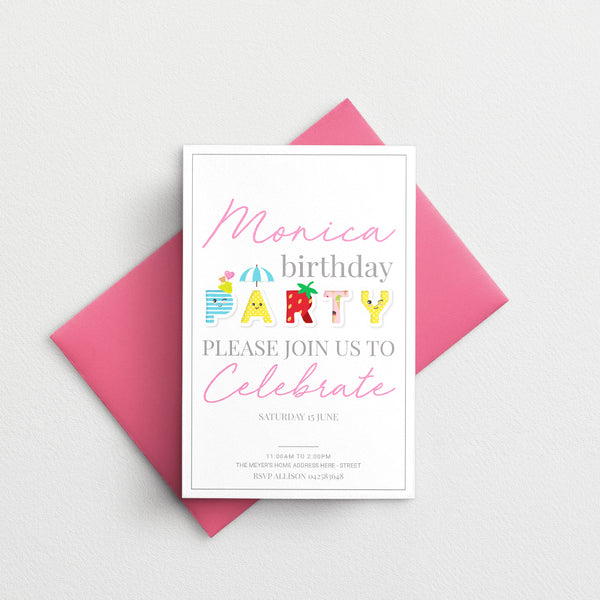 Kids Birthday Invitation - Fun Party Template - ux_design  network
