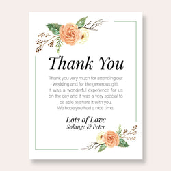 Wedding Romantic Theme Template - Thank You Card - ux_design  network