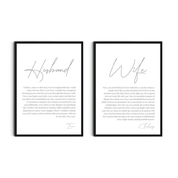 Wedding Vowels Wall Art Templates - Events and Fiesta Design