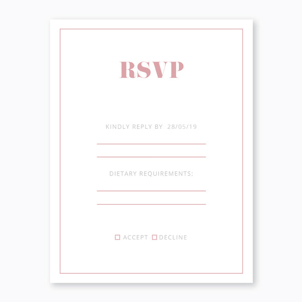 Wedding Blushing Cheeks Theme Template - RSVP Cards - ux_design  network