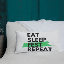 Load image into Gallery viewer, Eat Sleep Fest Repeat Pillow