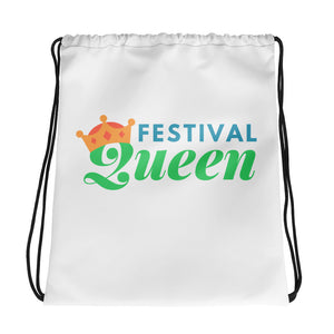 Festival Queen Drawstring bag