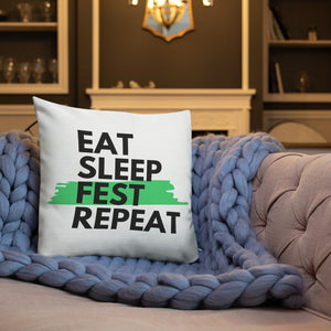 Eat Sleep Fest Repeat Pillow