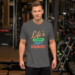 Life's A Party - Unisex Short Sleeve Jersey T-Shirt