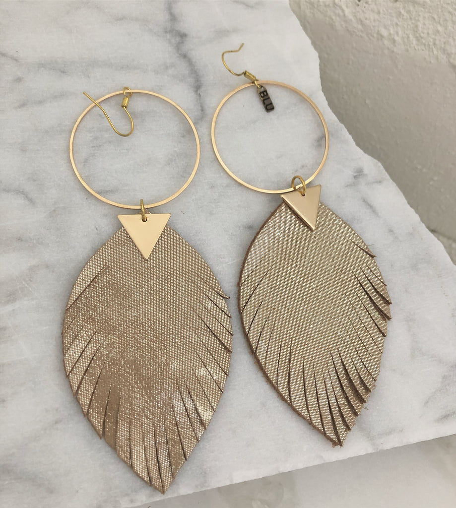 Alicia leather earring