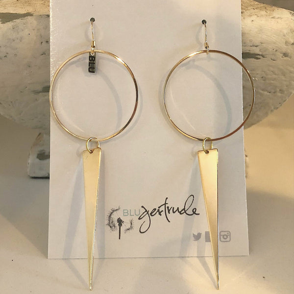 Spike earring - large