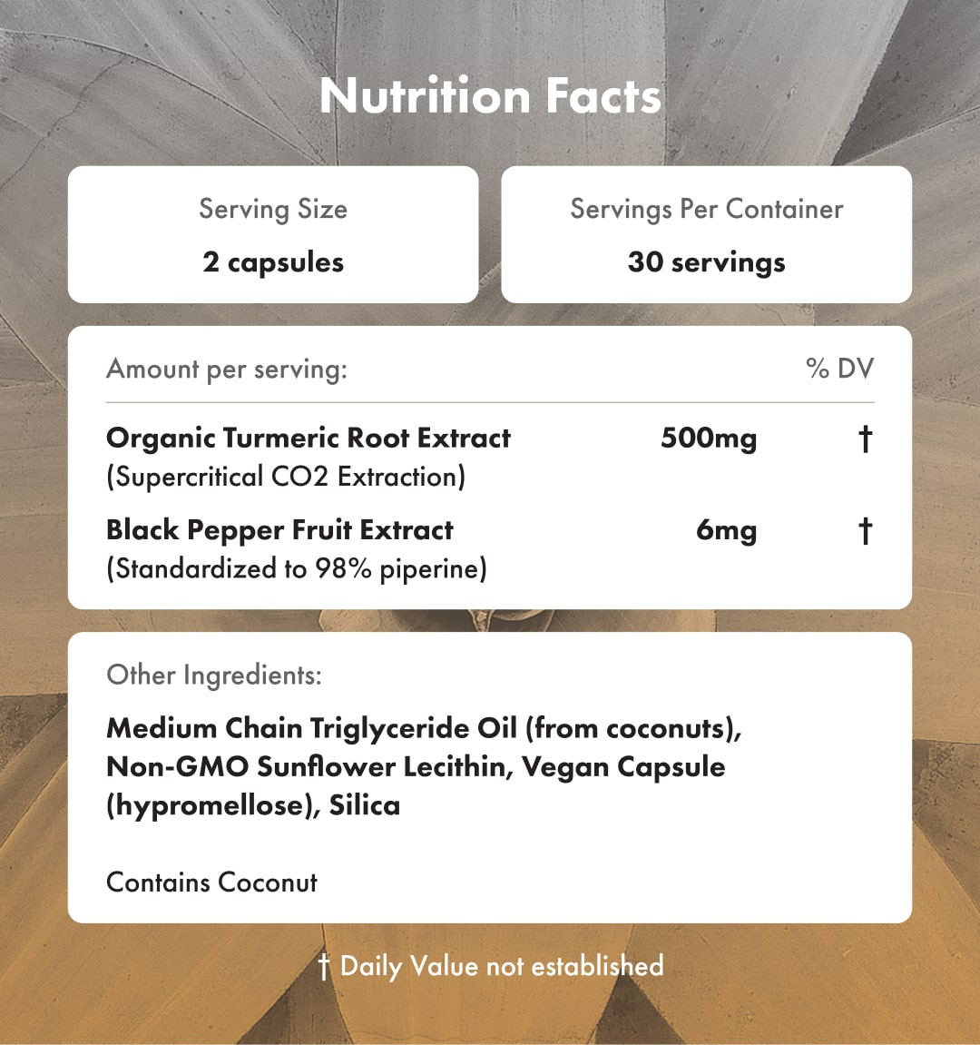 Gold Capsules Supplement Facts