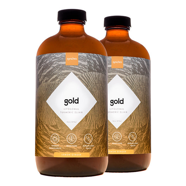 Liposomal Turmeric Supplement (Elixir) | Gold | Lemon Ginger Flavor