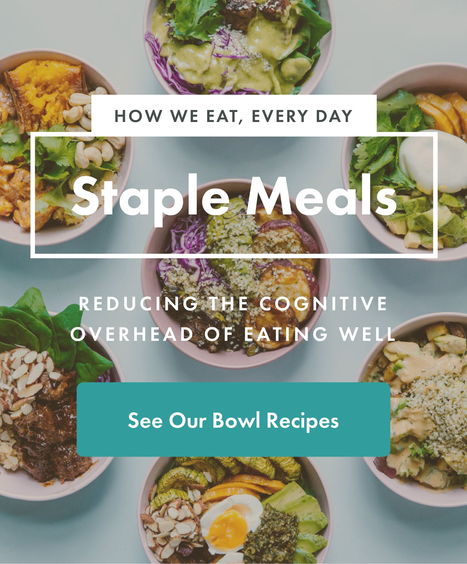 Staple Meals | Reducing The Cognitive Overhead Of Eating Well