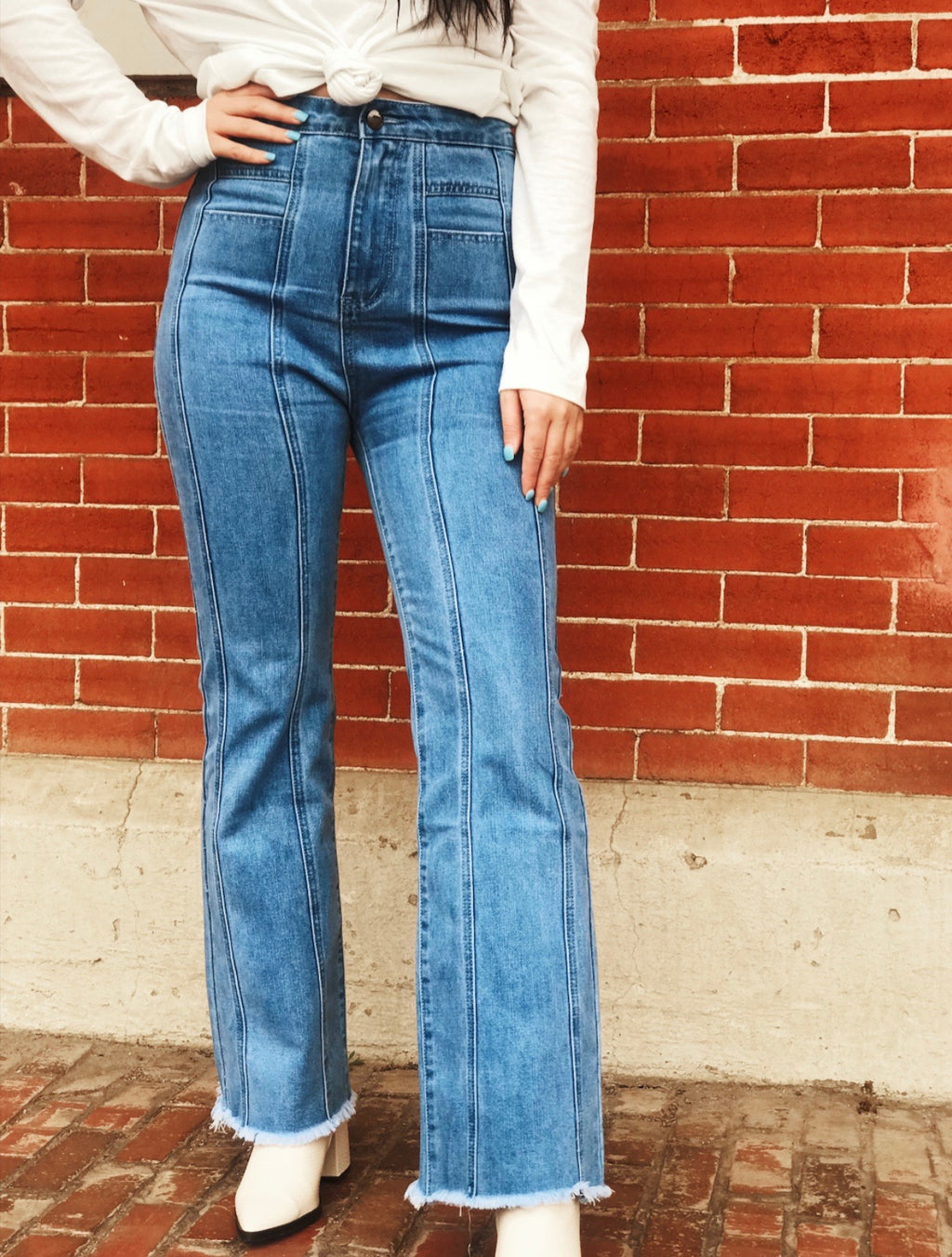 Blaire High Rise Flared Denim Jeans
